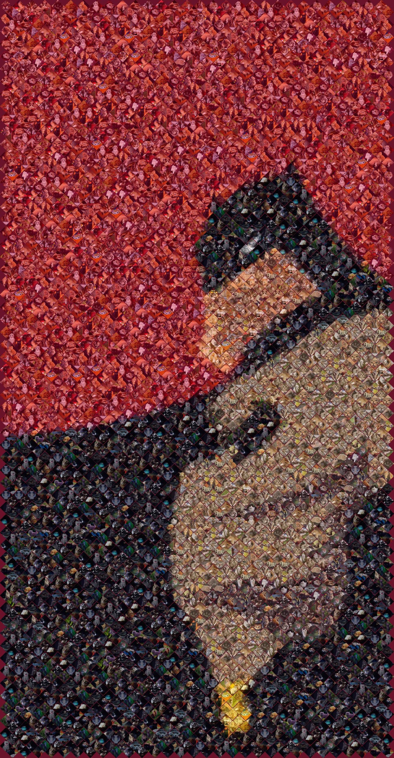 mosaic of batman in kittens